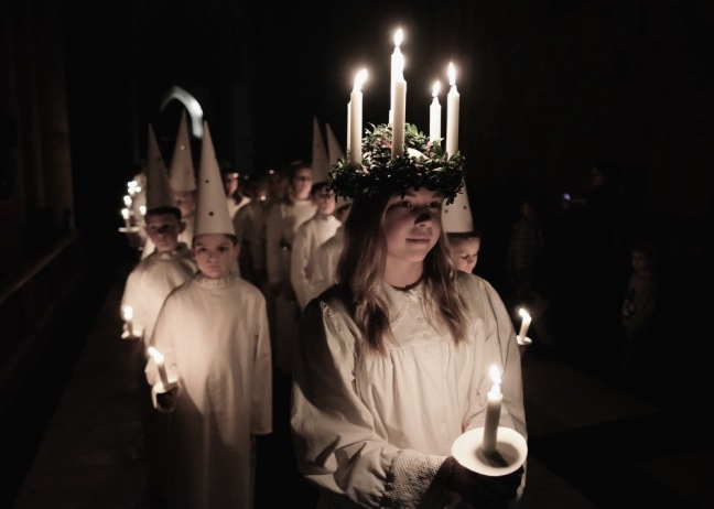 The Sankta Lucia Is Celebrated At York Minster